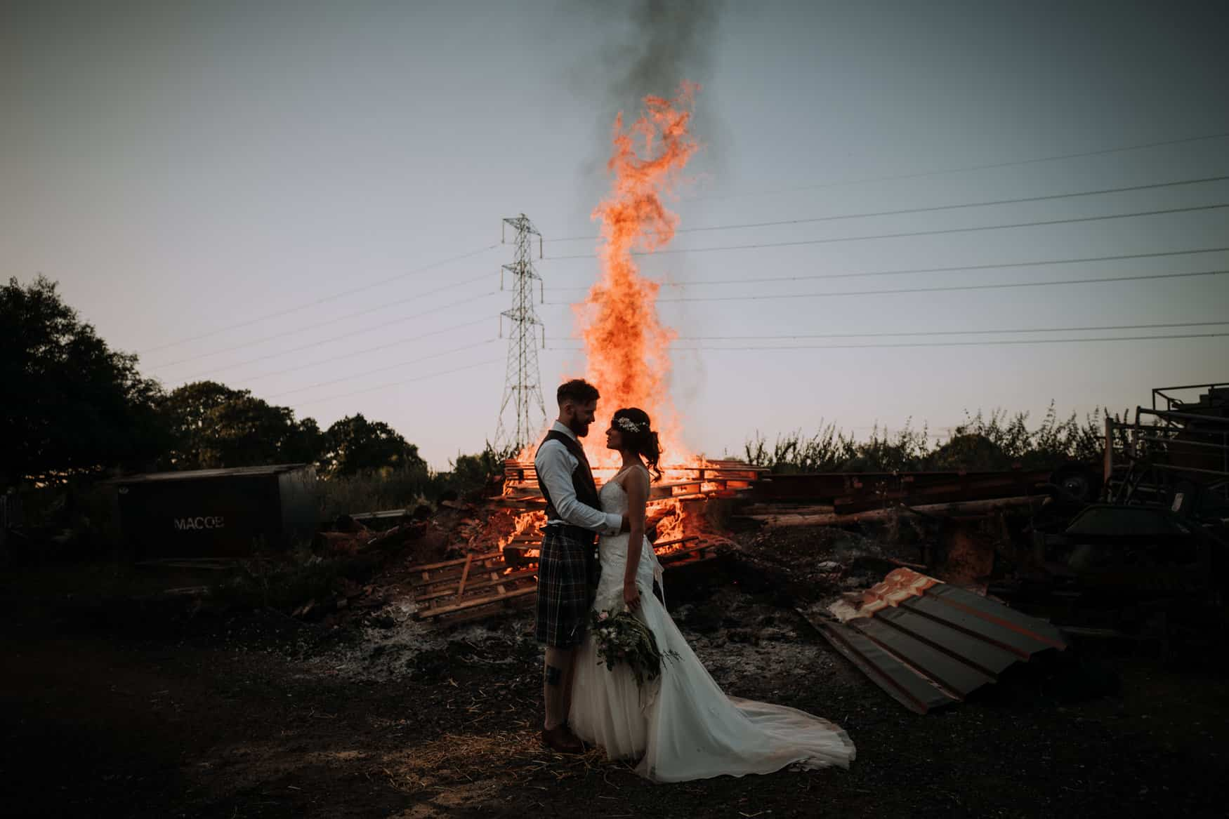 bride and groom portrait Owen House Barn wedding