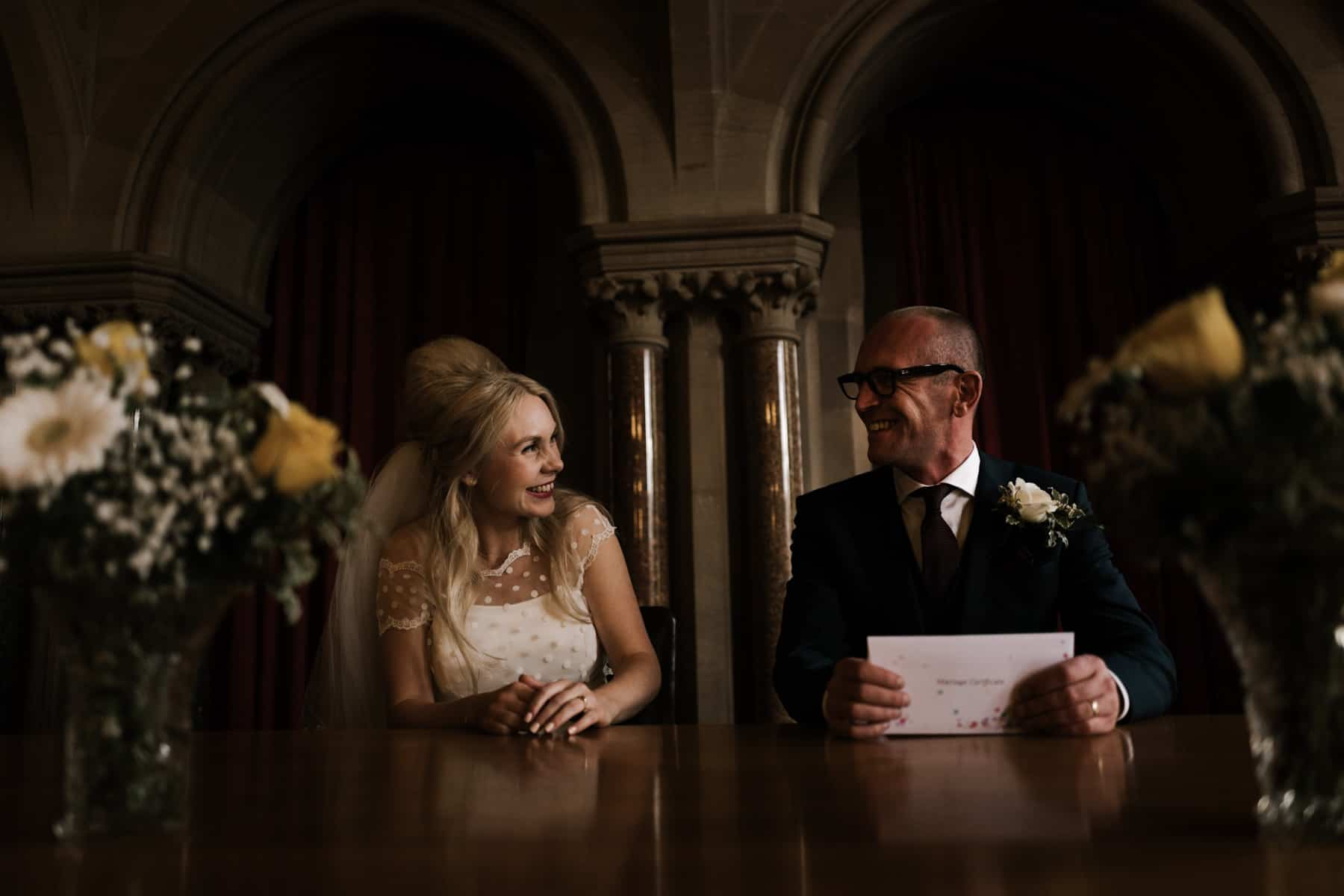 laughter whilst signing the register