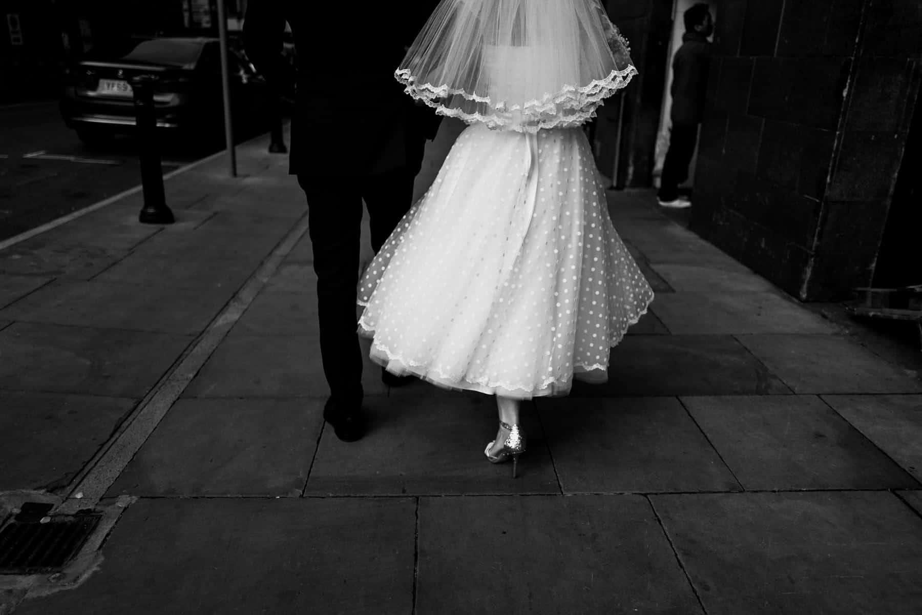 bride and groom feet shot