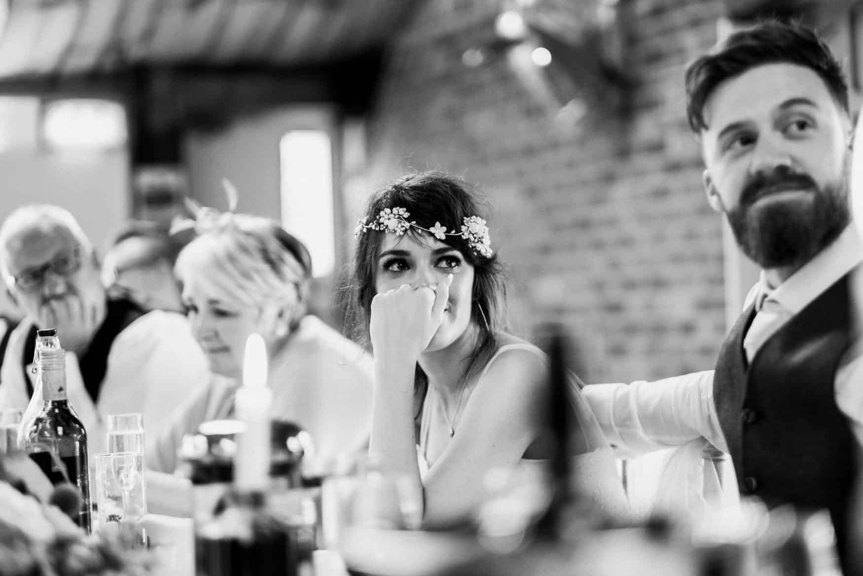 bride in tears at speeches