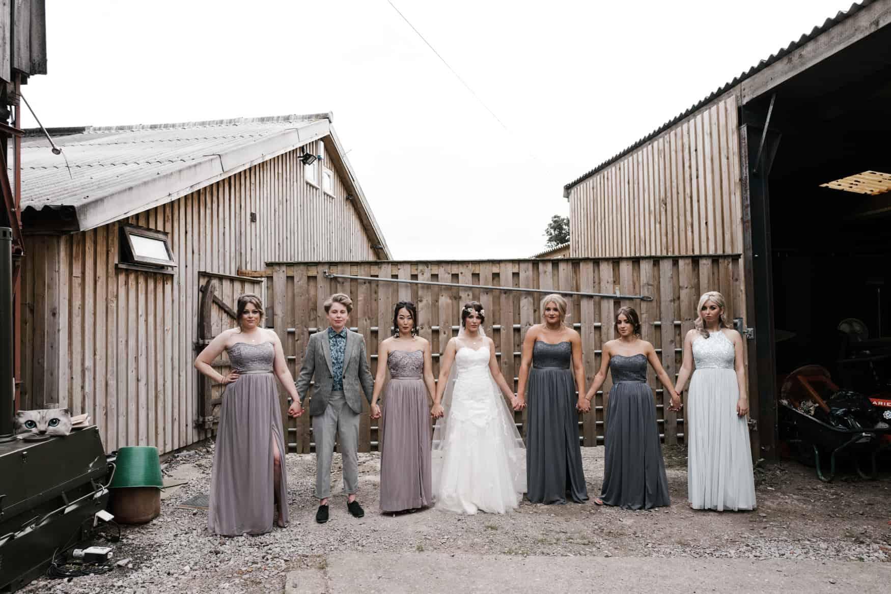 bride and her bridesmaids portrait