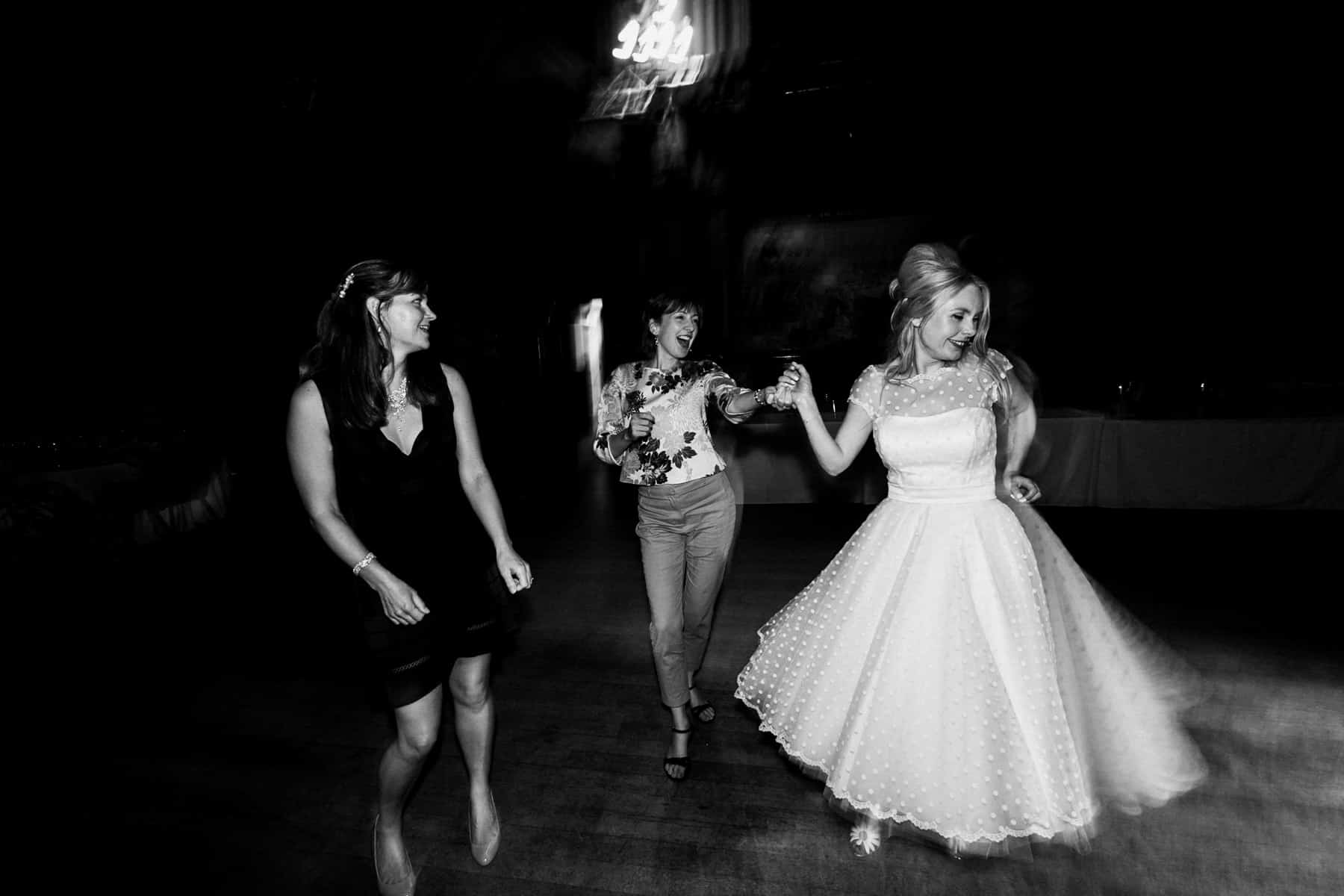 wedding reception dancing at manchester town hall