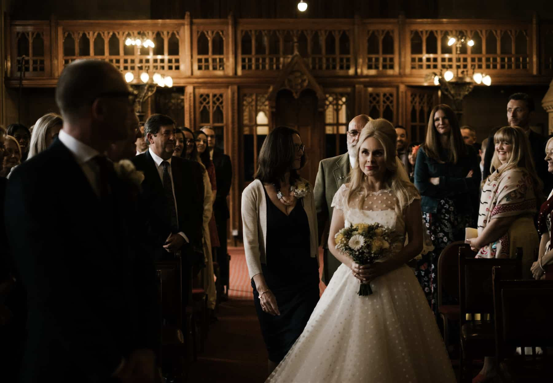 Bride sees groom for the first time at manchester town hall weddings
