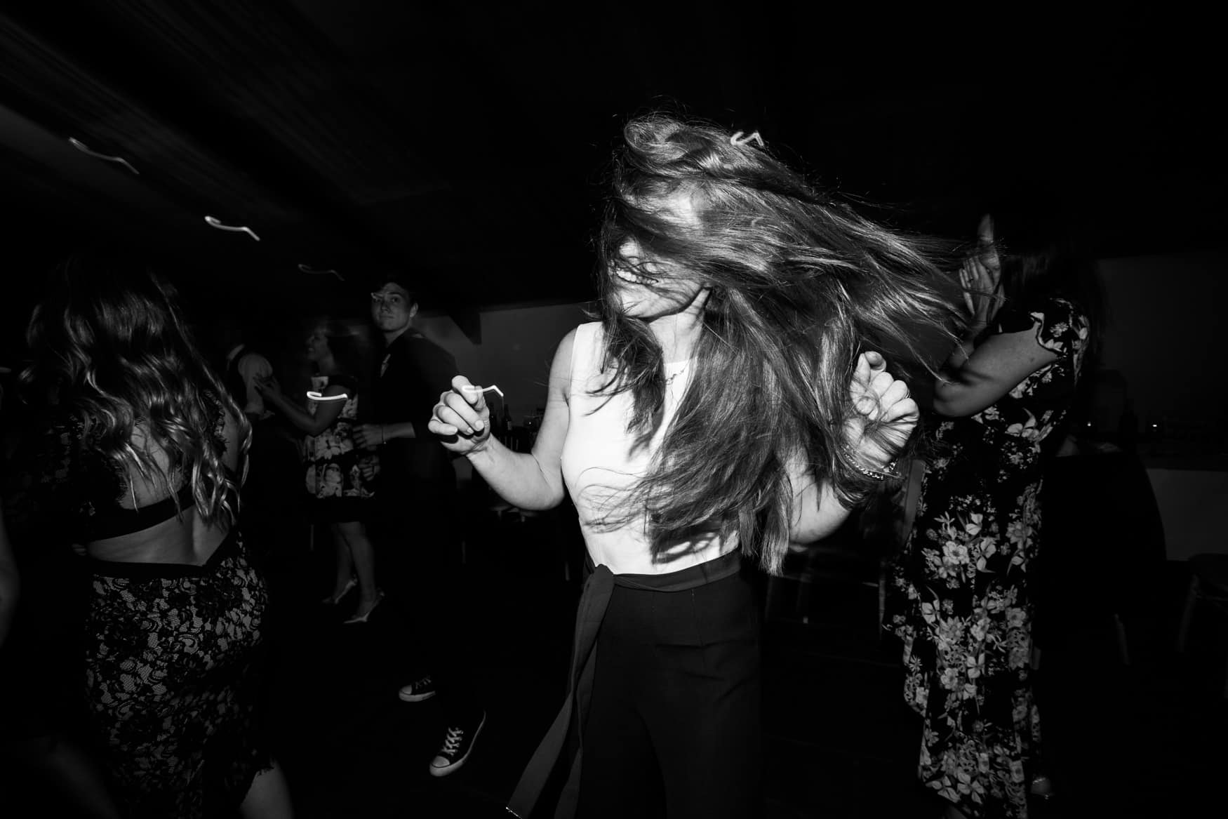 wedding crazy hair dancing
