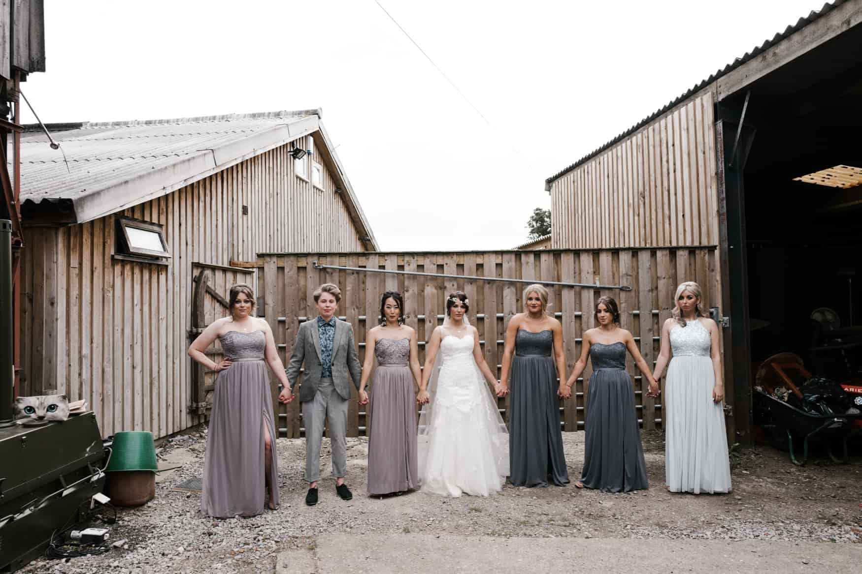 bride and her bridesmaids portrait