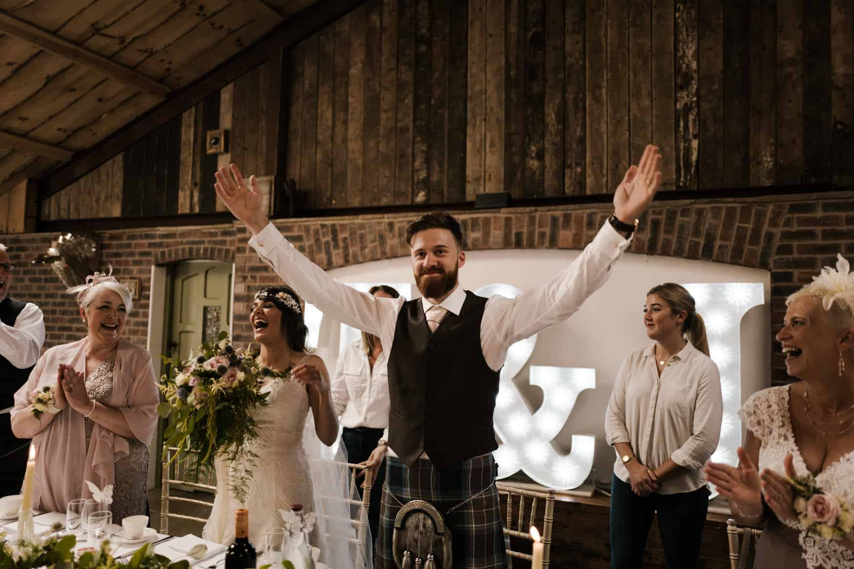 Groom speech at owen House Wedding barn