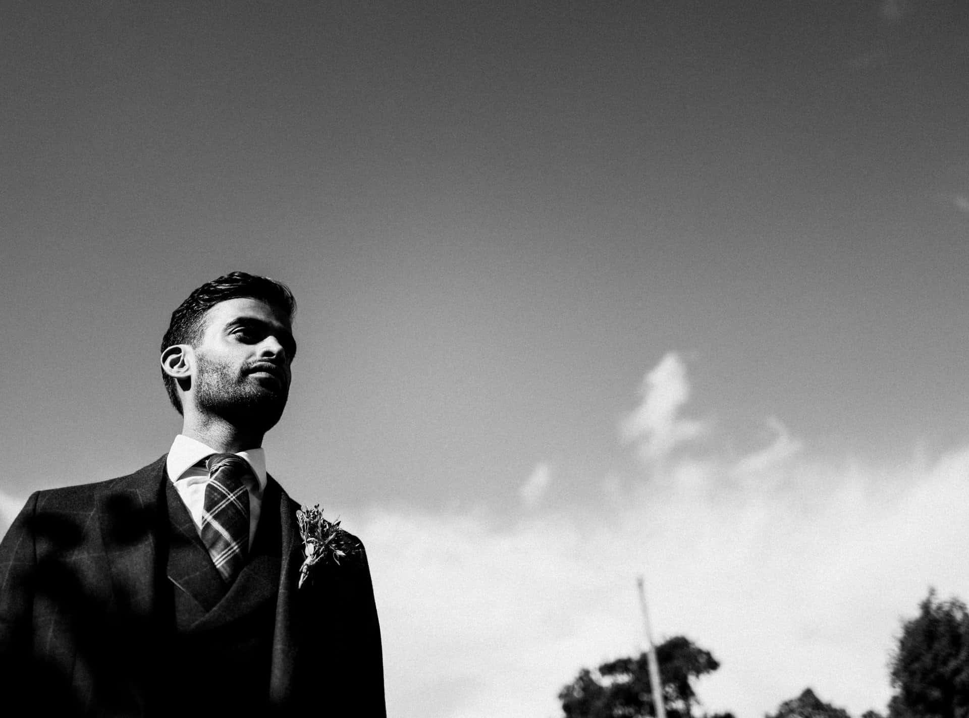 black and white portrait shot