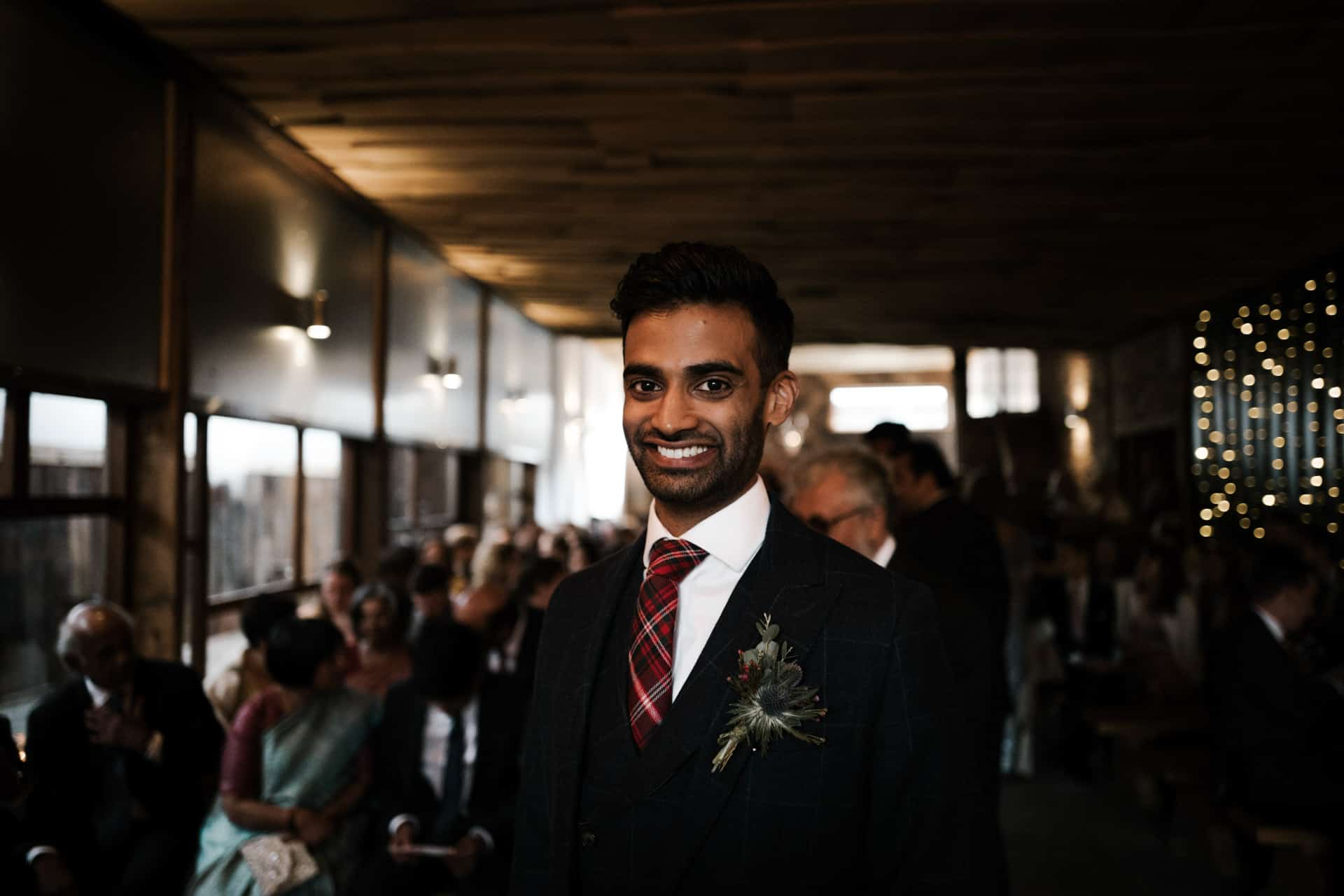 Excited groom