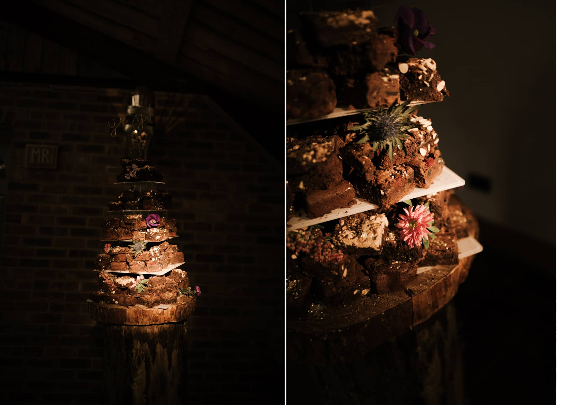 wedding cake at Owen House barn wedding