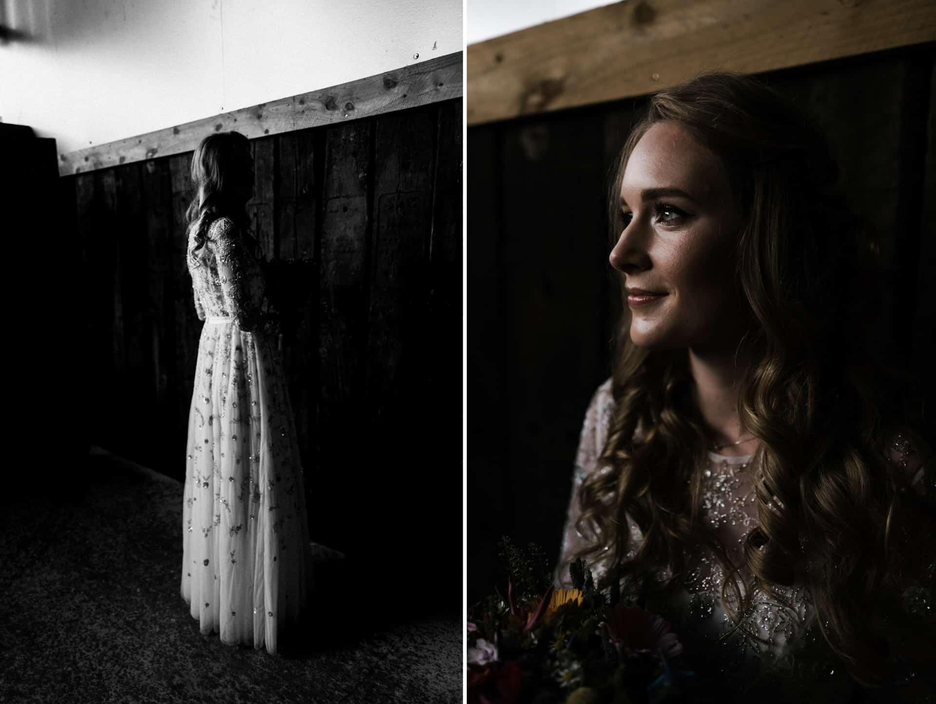 bride portrait at Owen House barn wedding