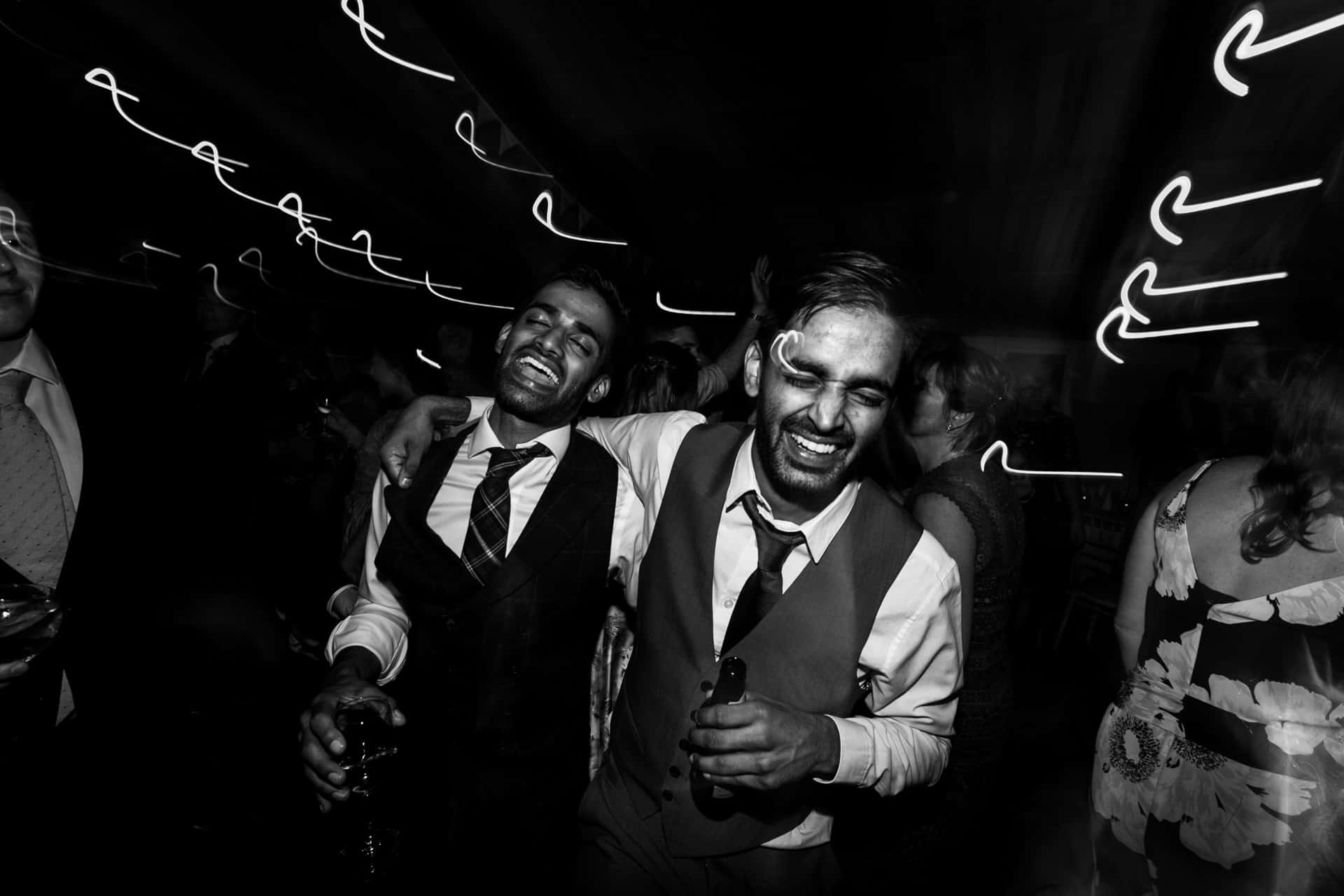 broom and brother at Owen House barn wedding
