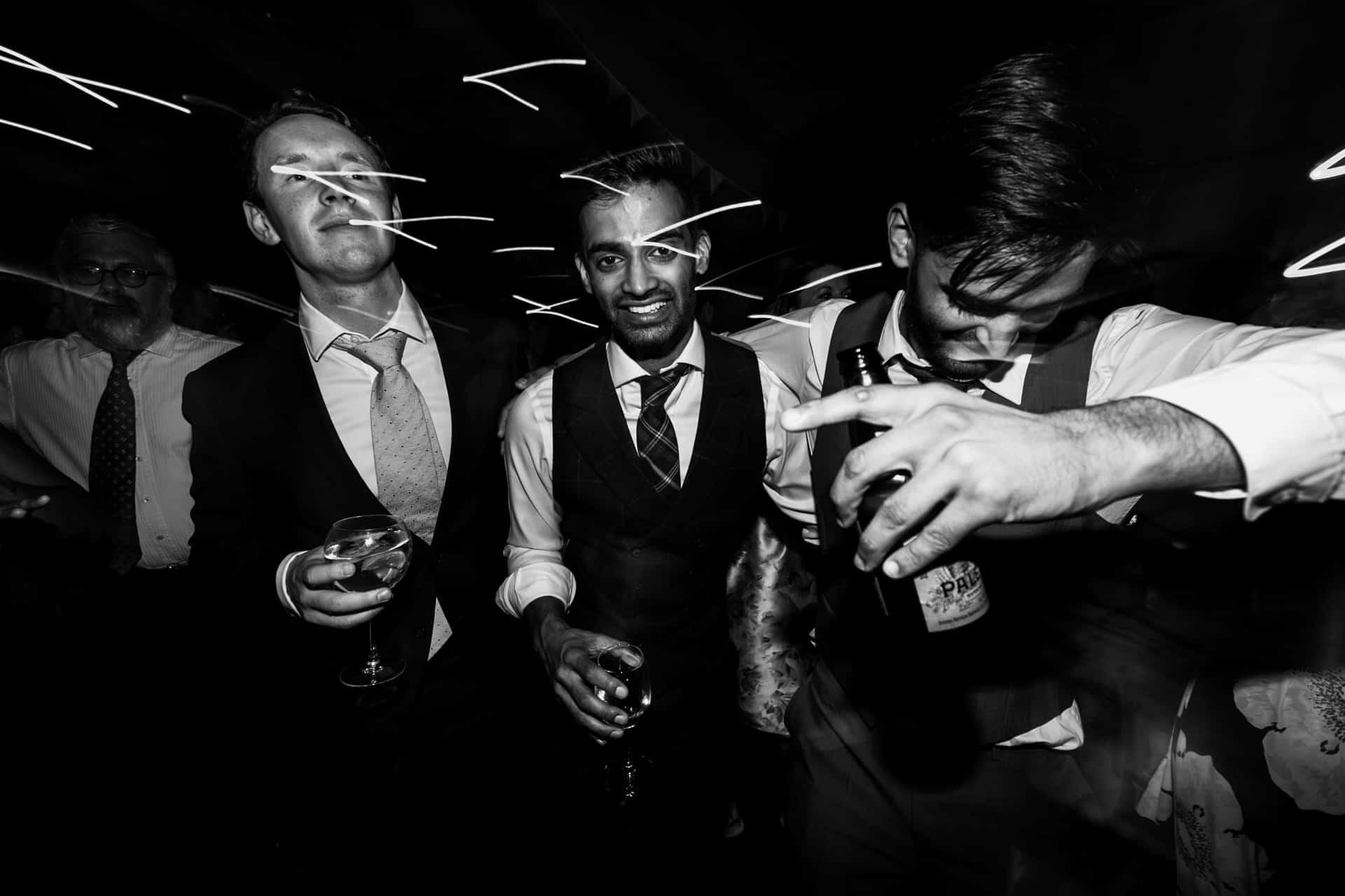 dancefloor drunks at Owen House barn wedding