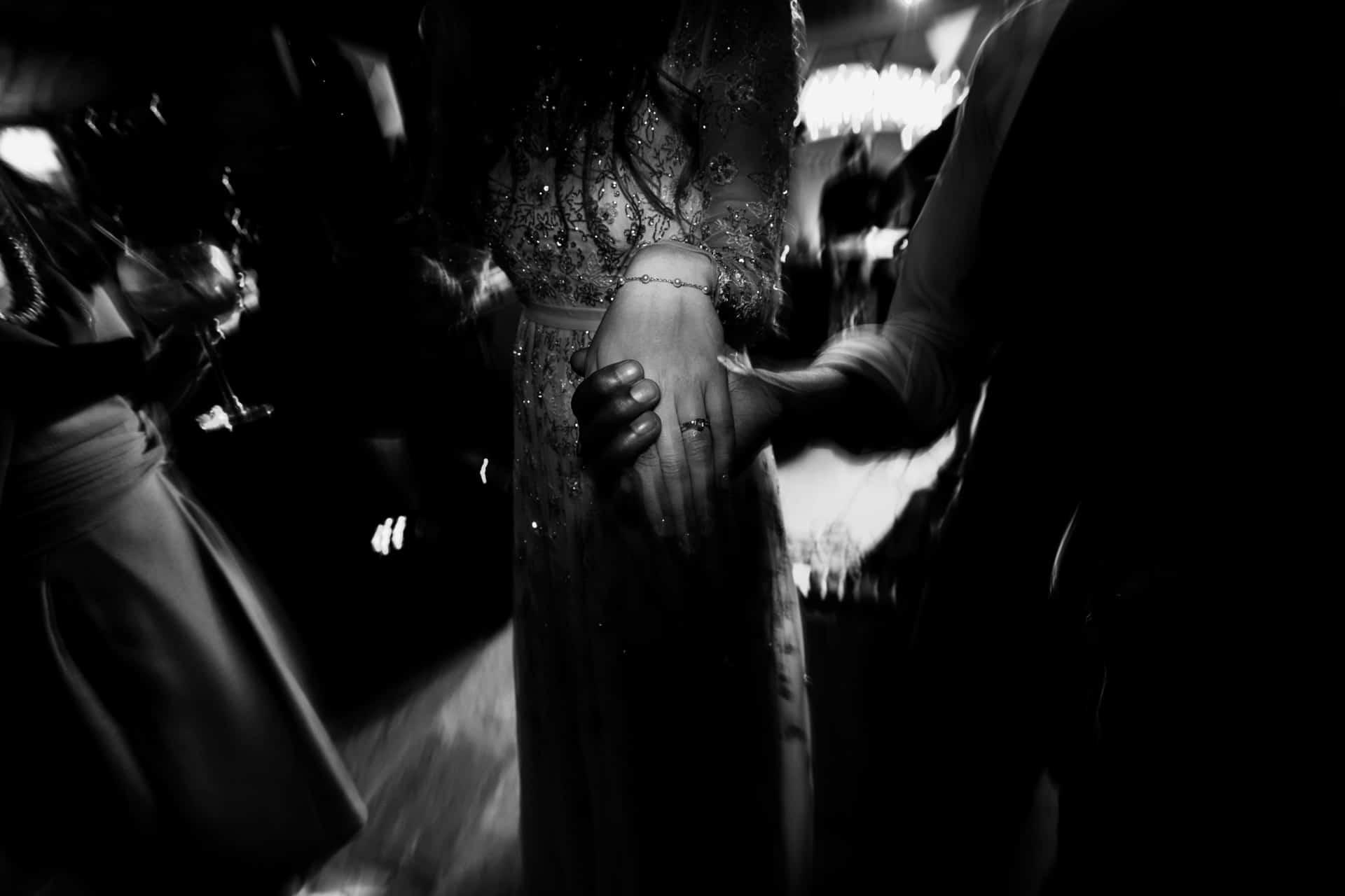 hands on the dance floor