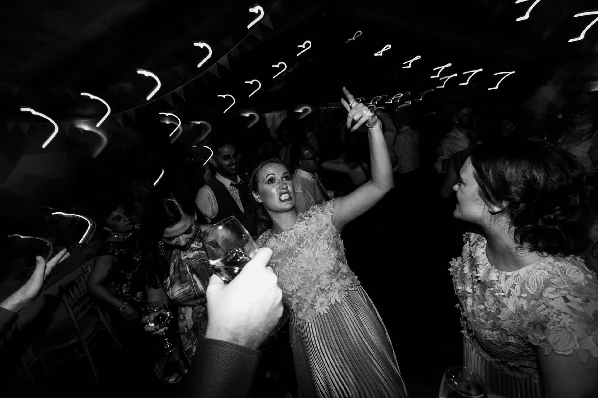 funny shot of bridesmaid