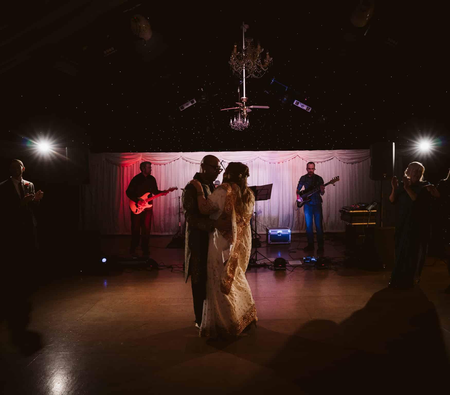 First dance at heaton house Farm Wedding venue