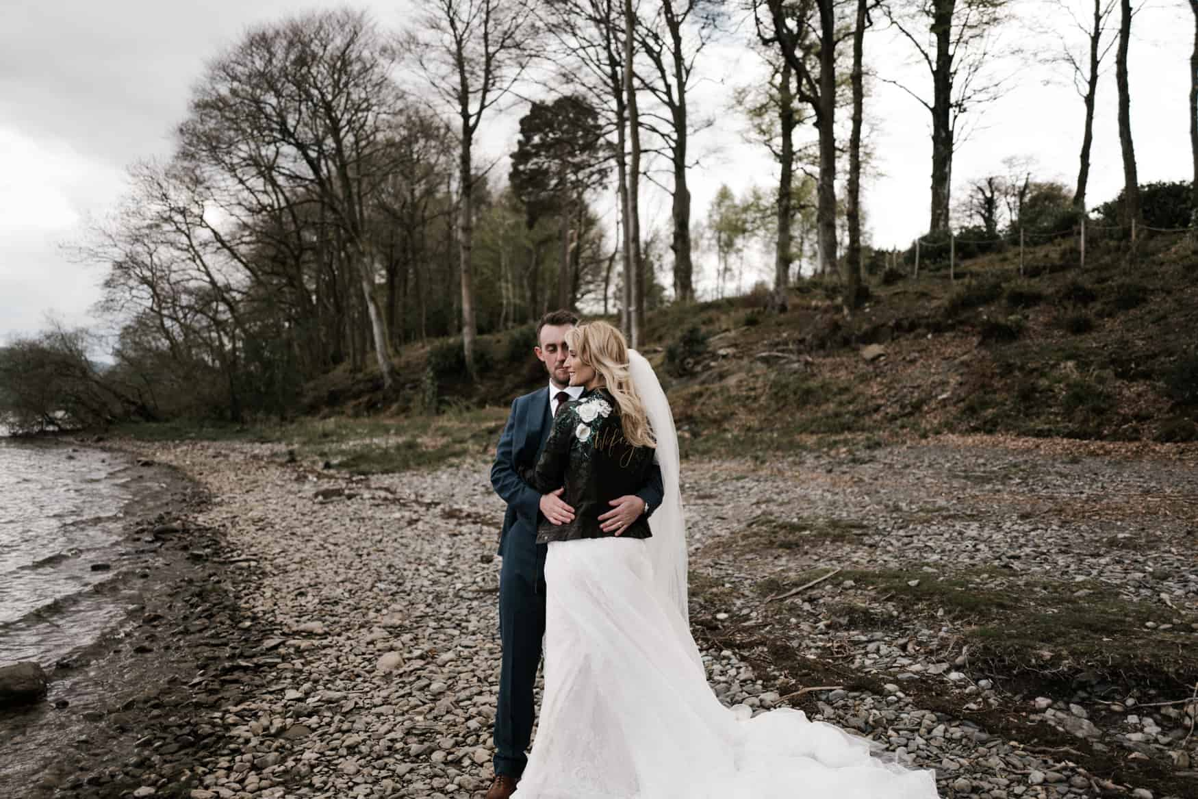 The Lingholm Estate bridal portrait