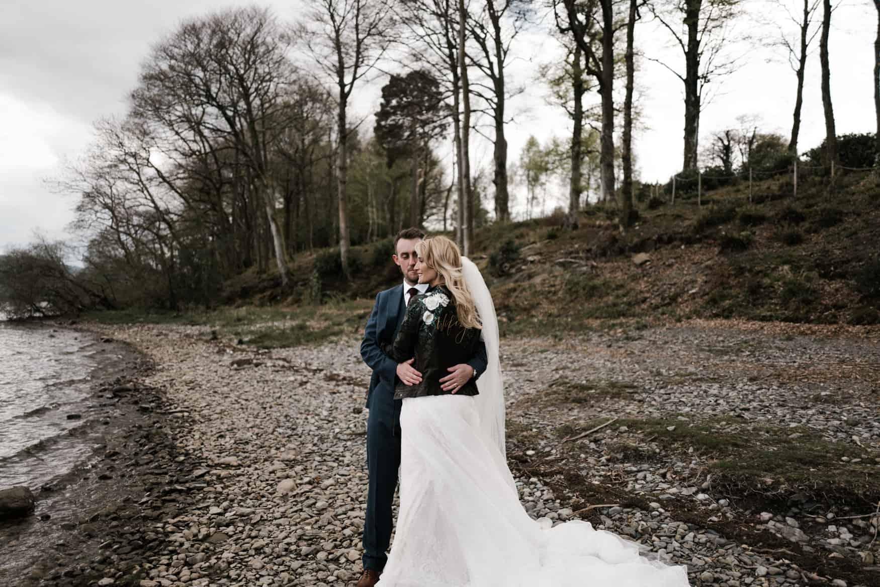 The Lingholm Estate bridal portrait