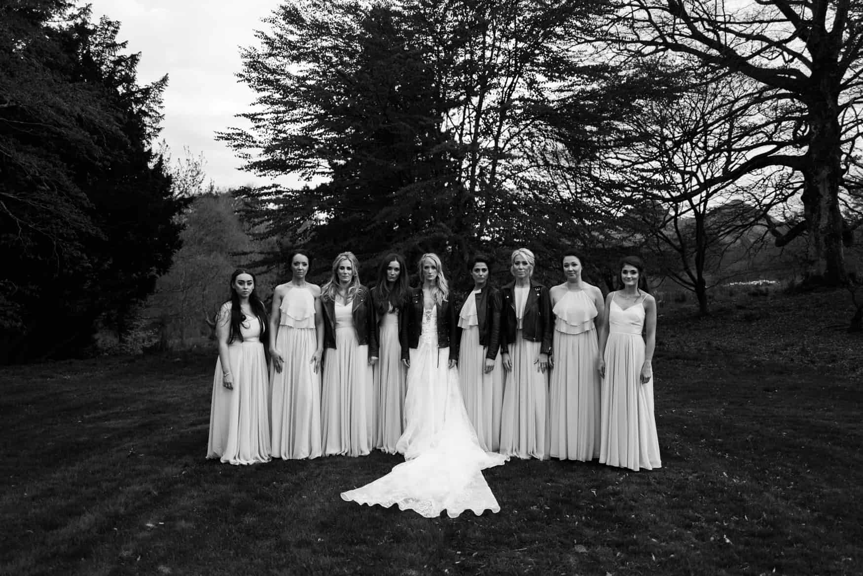bridesmaids portrait at The Lingholm Estate