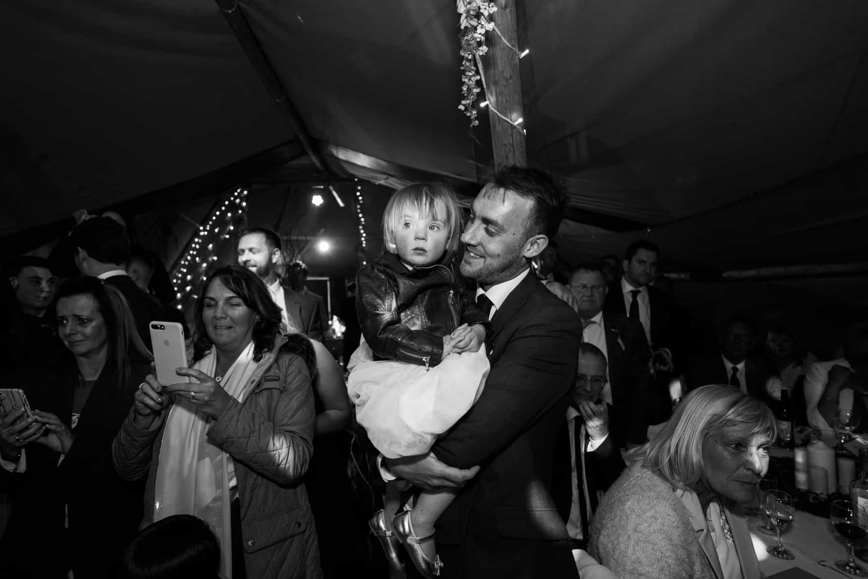 groom with daughter