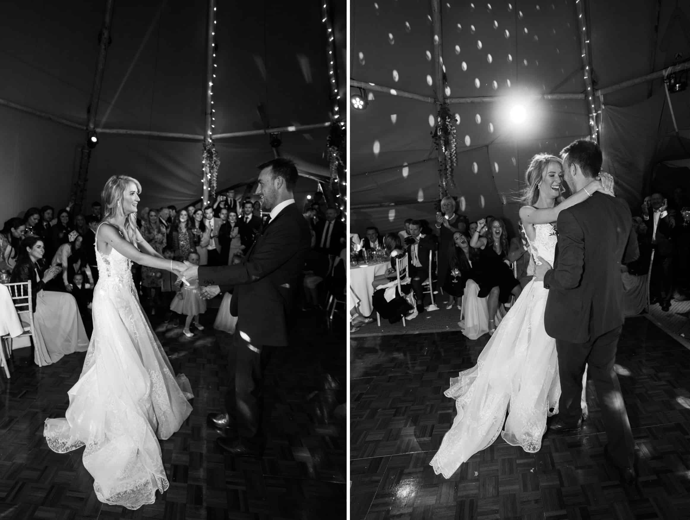 bride and groom first dance at The Lingholm Estate