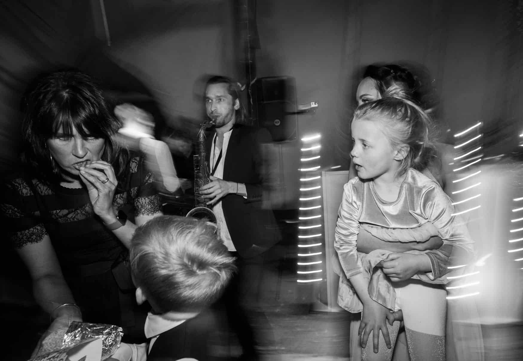 dancefloor fun at bride and groom first dance at The Lingholm Estate