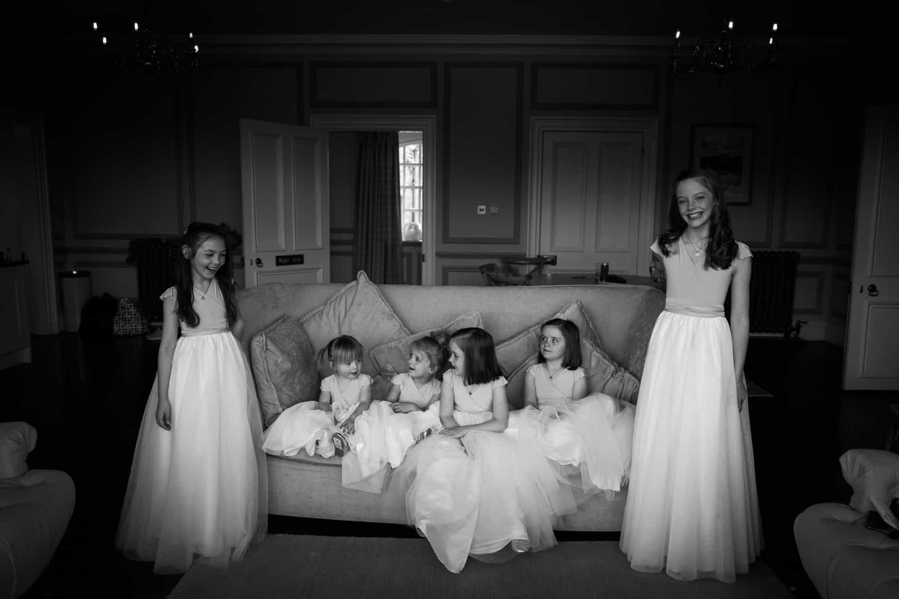 Flowers girls at The Lingholm Estate