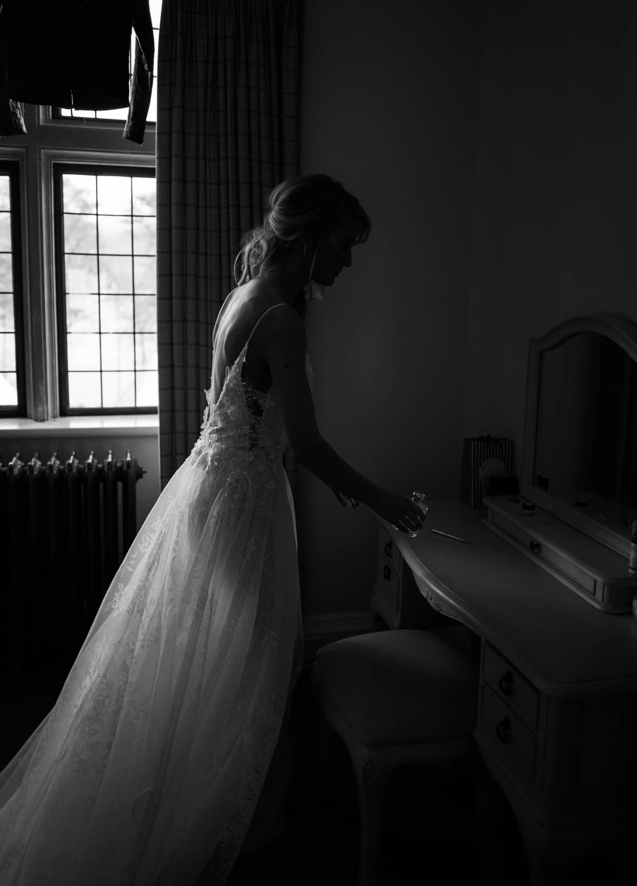 bride in good light