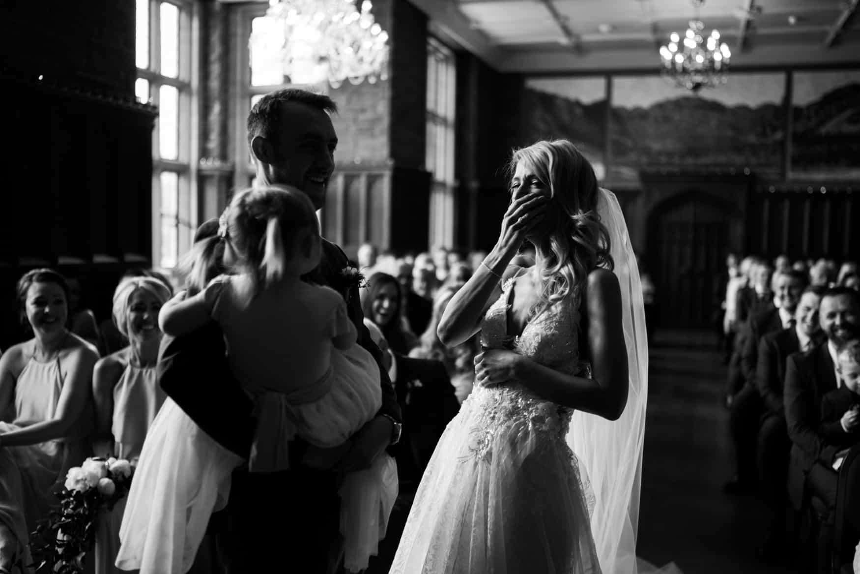 bride laughter