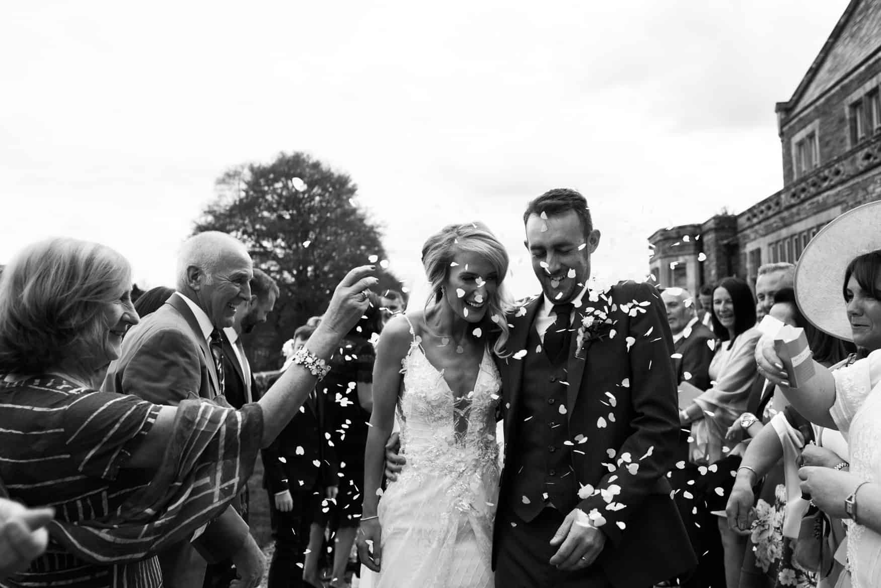 confetti shot at The Lingholm Estate