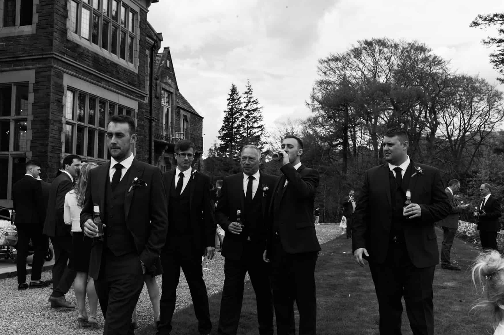 boys walking with their beers