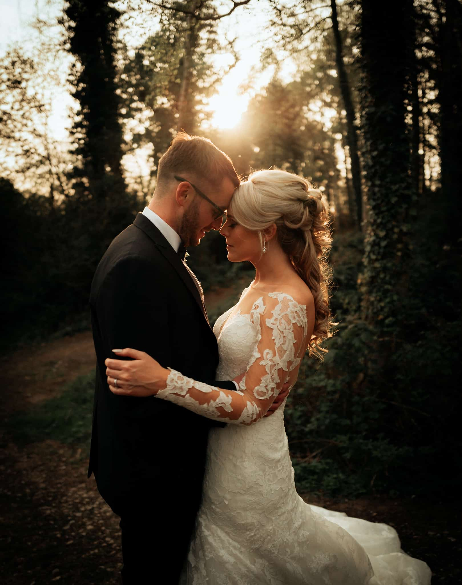 Portrait of bride & groom at Delamere Manor Wedding