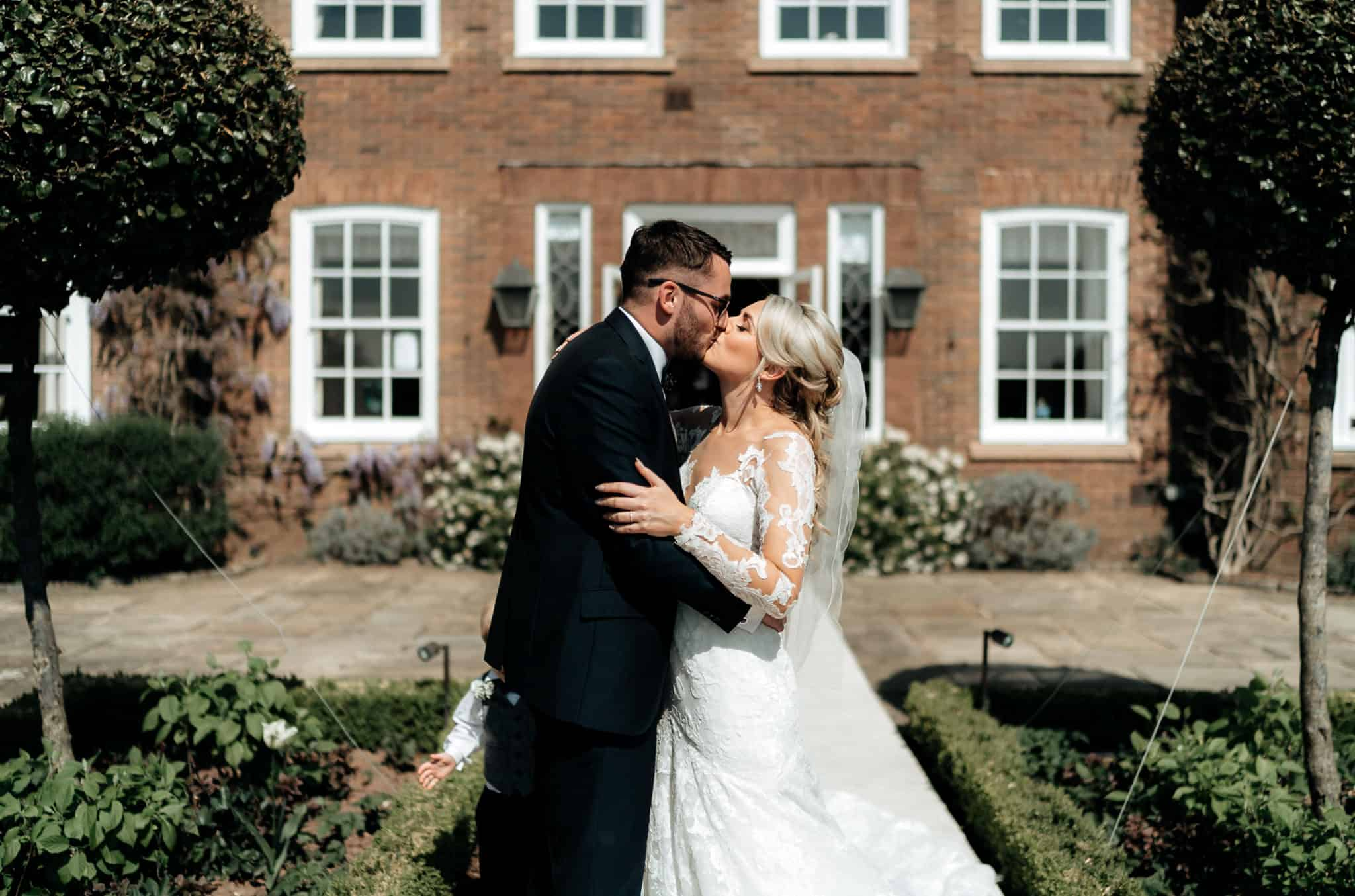 First Kiss at Delamere Manor Wedding venue
