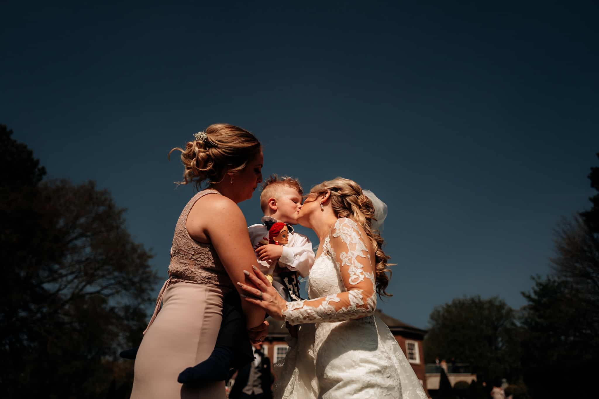 Bride kissed her son