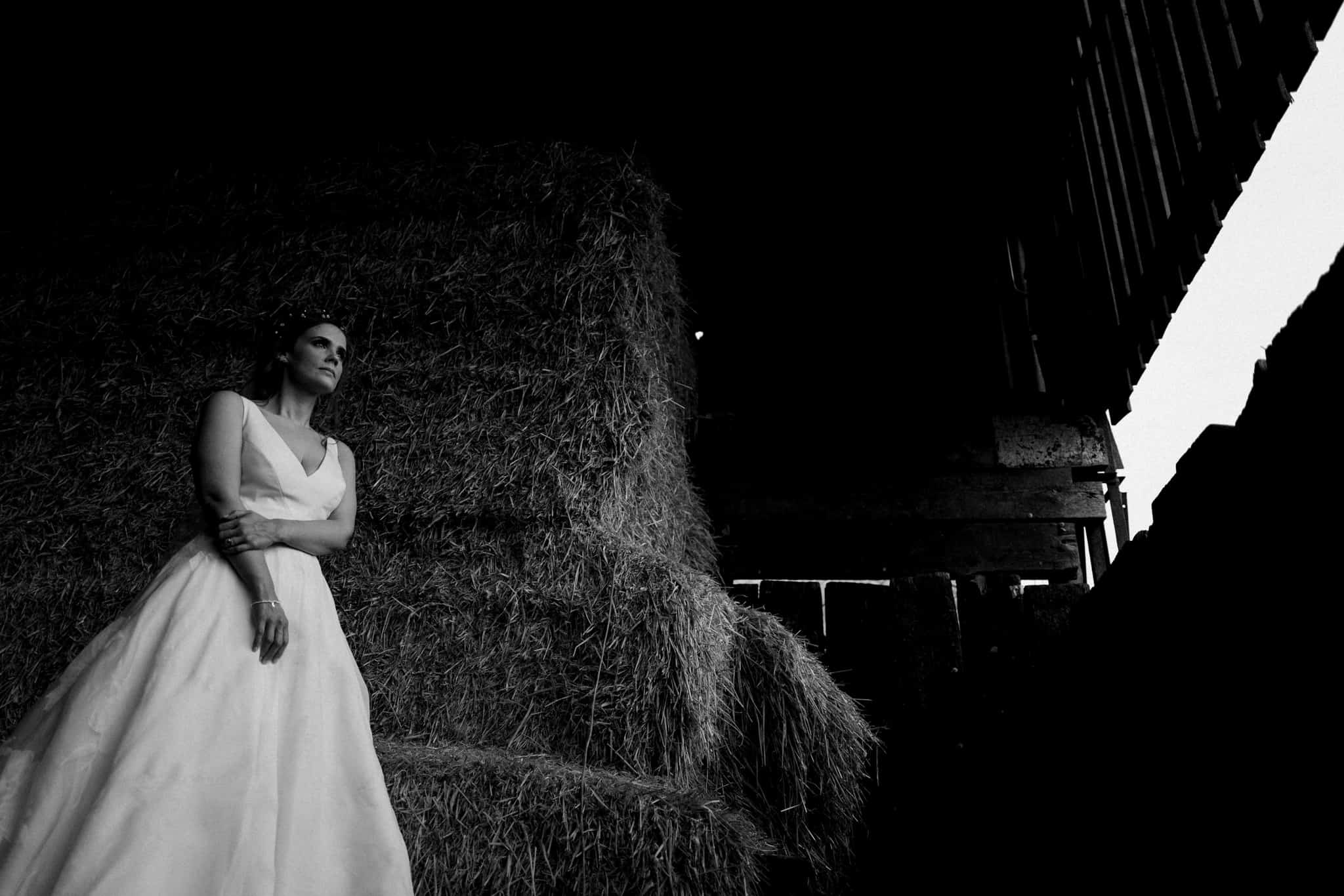 Bridal portrait in cheshire