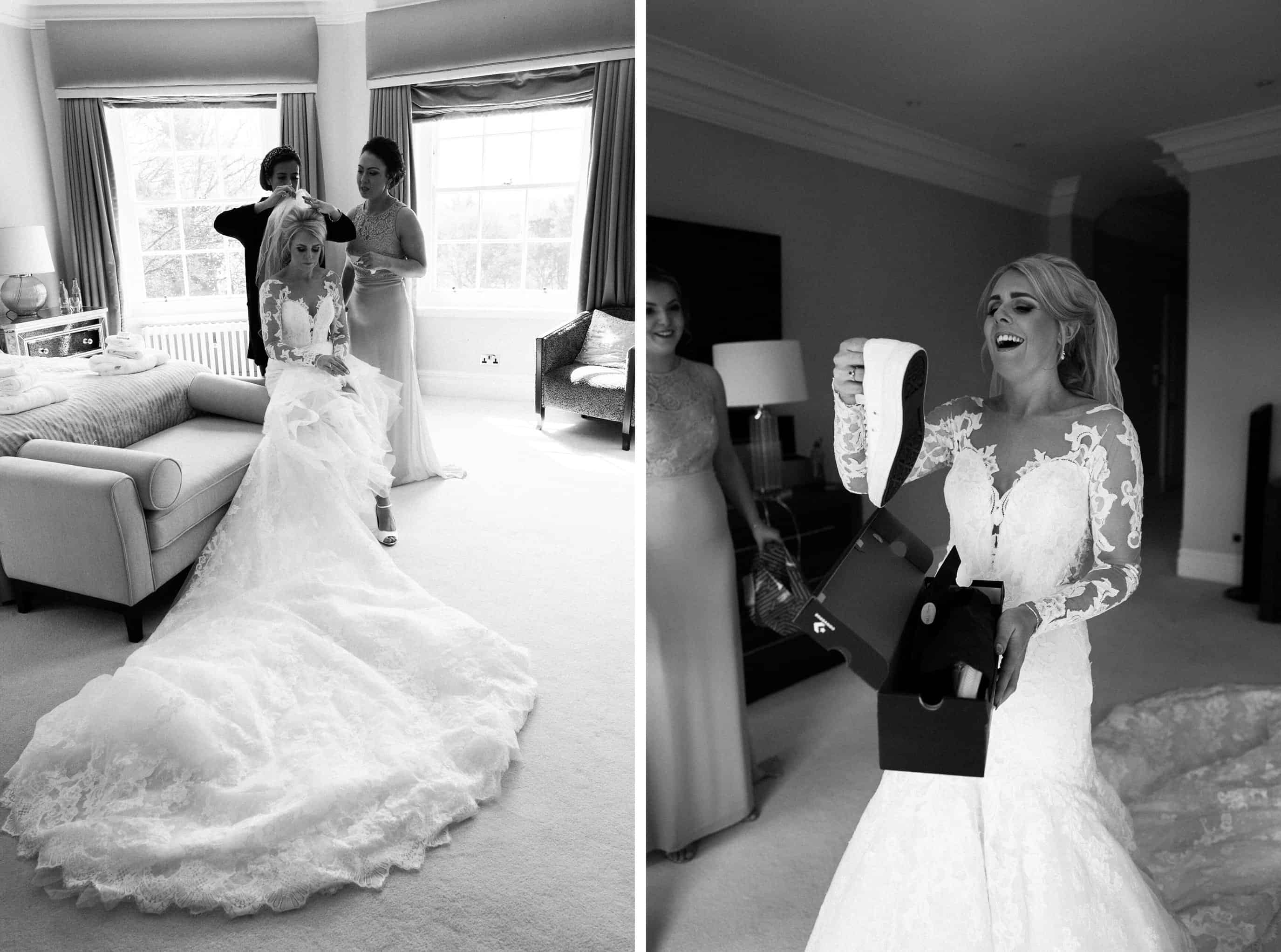 bride getting ready at Delamere Manor Wedding